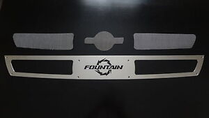 Fountain SS Transom Plate Engine Vent Cover POLISHED Marine Viking Cigarette
