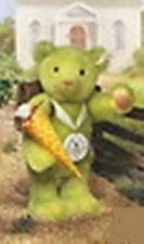 "STEIFF ""SCHOOL STARTER BEAR"" EAN 420139  CLUB EDITION GREEN MOHAIR BEAR 1998"