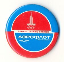 1980 AEROFLOT Soviet Airlines Official OLYMPIC Games Carrier Badge