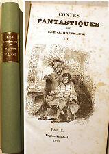 ROMANTISME/HOFFMANN/CONTES FANTASTIQUES/MAITRE FLOH/ED RENDUEL/1830/EO/H.PARISOT
