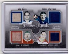 TERRY SAWCHUK GUMP WORSLEY BOB BAUN LAPERRIERE ITG Forever Rivals Jersey #/19 SP
