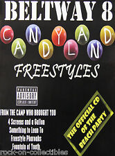 Beltway 8 Candyland Freestyles Original Houston Texas Screwed Rap Promo Poster