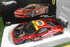 FERRARI 458 ITALIA GT2 LM 2012 LE MANS AF CORSE au 1/18 d ELITE HOT WHEELS BCT78