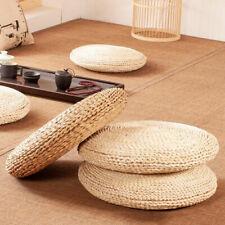 Tatami Cushion Seat Mat Natural Straw Woven Pillow Round Floor Yoga Tea Seat Pad