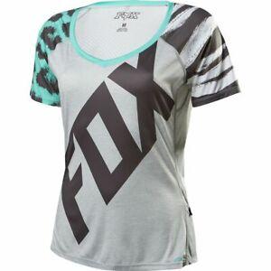 Fox Racing Women's Lynx Short Sleeve Jersey Gray Small