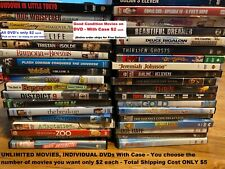 Lot of over 100 Dvd's w/ Case * Pick Unlimited Movies for $2 Each *