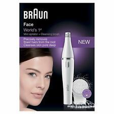 Braun Face 810 - Epilateur Visage avec Brosse Nettoyant Visage, Couleur Blanc