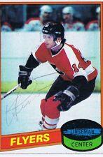Ken Linseman 1980 Topps Autograph #24 Flyers