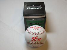 "Dudley Softball Cork Center Leather Sb-12 Lrf cor.47 Asa 12"" Nos Red stitch"