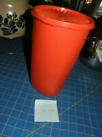 "VTG Tupperware Large Servalier Orange Canister 10 3/8"" x6 5/8"" 1222-5 16 Cups"