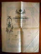 Order of Saint Sava - Yugoslavia - I class - Document - With signatures