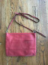Sanctuary Red Pebbled Leather Handbag Purse Shoulder Crossbody Messenger Bag