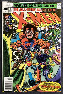 Uncanny X-Men 107 1979 First App Starjammers Corsair Key Issue ROUGH CONDITION