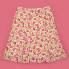 NEW PRETTY LINED MULTI COLOUR FLORAL PRINT STRETCHY SUMMER/WORK SKIRT SIZE 20