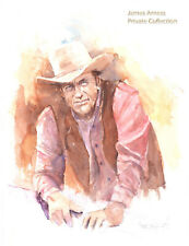 James Arness Gunsmoke Marshal Dillon  Lithograph by Buck Taylor