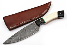 Custom Twist Damascus Steel Drop Point Hunting Knife Z10A
