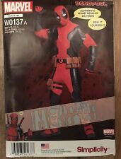 Simplicity Pattern W0137~Marvel Deadpool Costume Home Sewing Pattern (XS-XL)