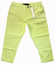ORIGINALITY IS LOST cotton roll-up chinos 34 lemon NWT $89.95!