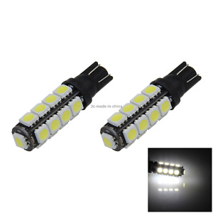 2x White Car T10 W5W Tail Bulb Clearance Lamp 17 5050 SMD LED 194 259 2525 A014