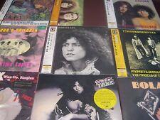 T-REX BOLAN'S JAPAN 200 GRAMLP'S ZIP GUN TANX A&B'S JOHN CHILDREN 13 LP RARE SET