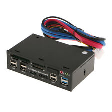 "5.25"" USB+Mic+Audio+ESATA+SATA Media Dashboard Front Panel Multi Card Reader"