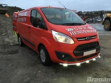 To Fit 2013+ Ford Transit Tourneo Custom Bumper Spoiler Chin Nudge Bar + LEDs x6
