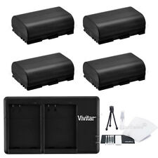 4x LP-E6 Replacement Battery & USB Dual Charger for Canon EOS 7D 60D 5D Mark III