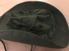 vietnam boonie jungle hat with head net, new old stock, ripstop, 6 5/8,1969