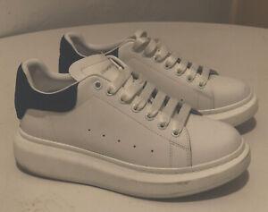 Alexander McQueen Oversized Sneaker Sz 41 Leather White Navy