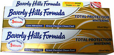 2 x BEVERLY HILLS FORMULA WHITENING TOOTHPASTE - WHITER TEETH IN 1 MINUTE - NEW