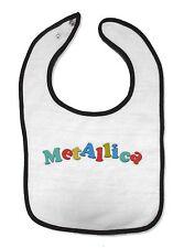 Metallica Color Logo Toddler Snap Back Baby Bib New Official Metal Band Kids