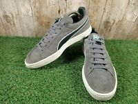 Puma Suede Men's Grey Trainers Sneakers Size 7 UK 40.5 EUR