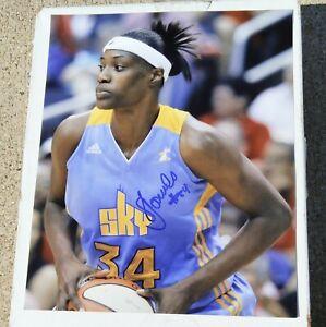 SYLVIA FOWLES Chicago Sky WNBA Basketball SIGNED 8x10 Photo