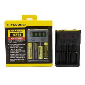 Nitecore i4 NEW Intellicharge 26650-20700-16340 UK Plug Charger Free P&P