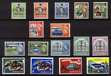 JAMAICA 1962-63 DEFINITIVES SG181/196 MNH