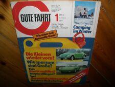 Zeitschrift für VW Gute Fahrt Nr.1  1974  Porsche VW Käfer