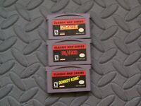 Lot Nintendo Game Boy Advance GBA Games Classic NES Series: Pac-Man Mario DK