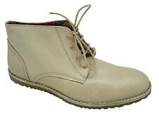 Aigle Bikanor P2041 [ Gr. 42] Homme Cuir Chaussures Plates à Lacets Beige Neuf