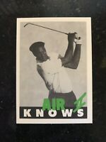 MICHAEL JORDAN AIR KNOWS II GOLF PROMO NMMT Card SP CHICAGO BULLS The Last Dance