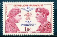 STAMP / TIMBRE FRANCE NEUF LUXE N° 1773 ** BOURGOIN ET KIEFFER PARACHUTISTES