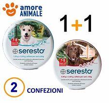 2 COLLARI (1+1) Seresto Bayer - 1 Collare per cani fino 8 kg + 1 oltre 8 Kg