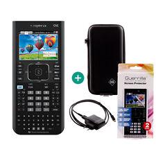 TI Nspire CX CAS Grafikrechner + Schutztasche Schutzfolie Ladekabel