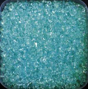GLASNUGGETS 1000 g. Glassteine 2-4 mm. Glas Granulat Sand 1 kg farbig TÜRKIS -81
