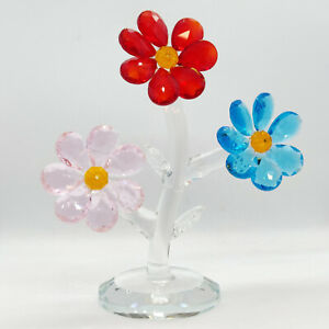 12CM Crystal Flower Three Colours Decoration Wedding Gift Birthday Mothers Day P