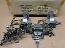 4 New Duke #2 leghold coilspring traps/Bobcat/Coyote/Fox trapping/Coyote good $$