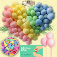"Pack of 100 Pastel Latex Balloons Macaron Candy Many Colour Party 10"" Balloons"