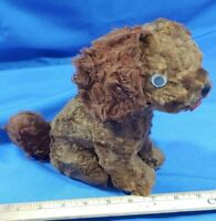 RARE Antique Mohair Music Box Toy Dog Cocker Spaniel Plays Song Stuffed Animal