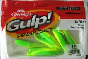 "BERKLEY GULP!  4"" Minnow (8/Ct Pack) - Green Chartreuse"