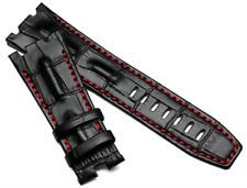 28MM Black Red line Leather Watch Band Strap For Audemars Piguet Royal OAK AP100