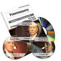 1400 Freemasonry Vintage Books Masonic Freemason History Knights Templar DVD 225